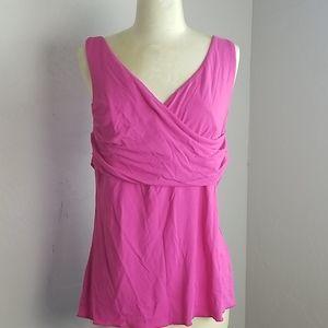 Boston Proper pink tank top blouse L